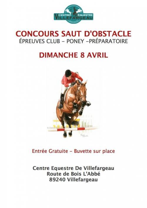 Prochain Concours Saut d'Obstacle